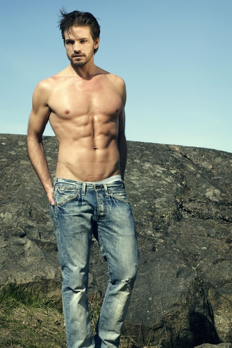 Hot male model Nicholas Ulfsberger from Sweden
